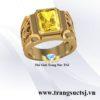 Nhẫn Nam Cao Cấp Mặt Đá Sapphire Vàng