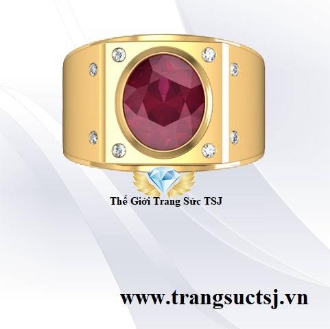 Nhẫn Nam Đơn Giản Sang Trọng - Trang Sức Vàng Tây