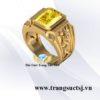 Nhẫn Nam Hình Rồng Đá Sapphire Vàng Sang Trọng