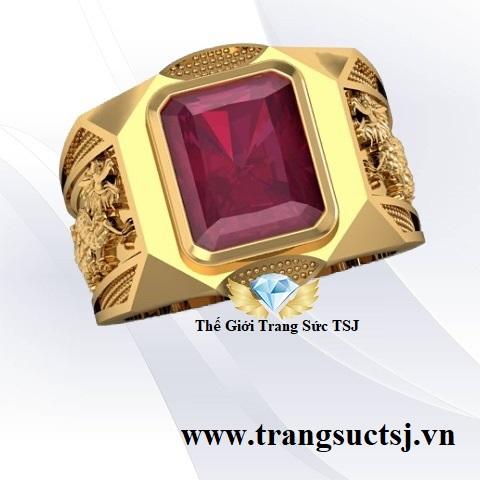 Nhẫn Ruby Nam Hình Rồng