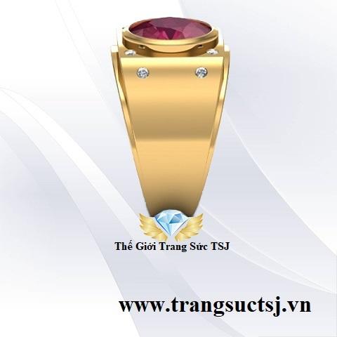 Nhẫn Ruby Nam Thời Trang Thanh Lịch - Trang Sức Vàng