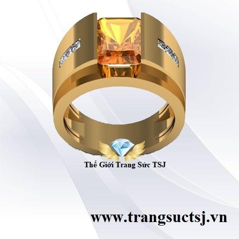 Nhẫn Vàng Tây Nam Đá Citrine - Trang Sức TSJ
