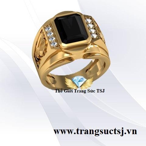 Trang Sức Vàng 18K - Nhẫn Nam Vàng Tây