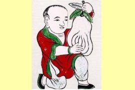 Tranh Phật Thủ May Mắn