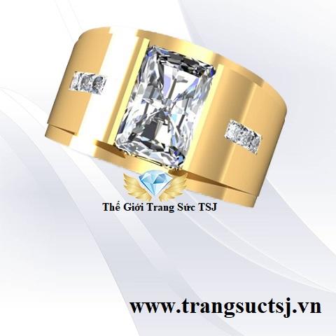 Nhẫn Đá Topaz Nam Trang Sức Vàng TSJ