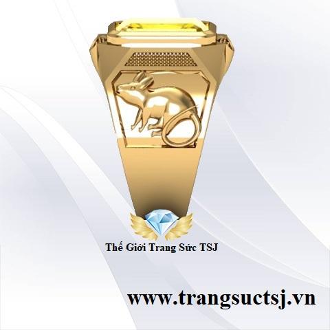 Nhẫn Mặt Đá Sapphire Nam Cao Cấp