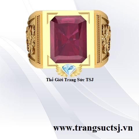 Nhẫn Ruby Đỏ Thiên Nhiên Mạnh Mẽ