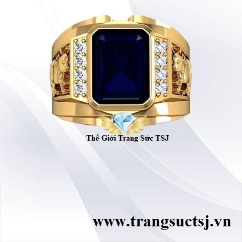 Nhẫn Sapphire Nam Hợp Thời Trang Tại Thế Giới Trang Sức TSJ
