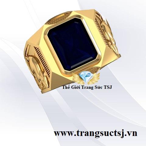 Nhẫn Sapphire Xanh Bích Hợp Phong Thuỷ