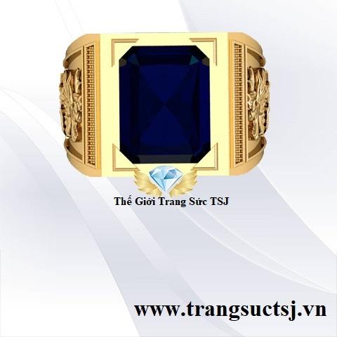 Nhẫn Sapphire Xanh Bích Sang Trọng Hợp Mệnh - Trang Sức TSJ