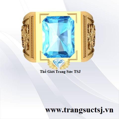 Nhẫn Topaz Xanh Vàng 18k Đẹp Nhất