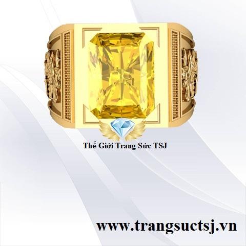 Trang Sức Vàng Tây Đẹp Mặt Đá Sapphire Vàng