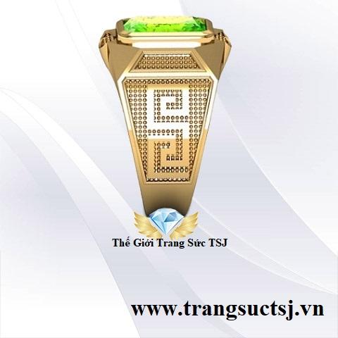 Nhẫn Hợp Phong Thủy Cho Nam Gắn Đá Peridot