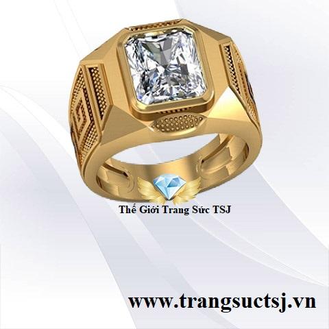 Nhẫn nam Đẹp Bằng Vàng 18k Thế Giới Trang Sức TSJ