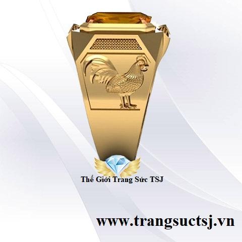 Nhẫn Nam Đẹp Cho Nam Mặt Đá Vàng Trang Sức TSJ