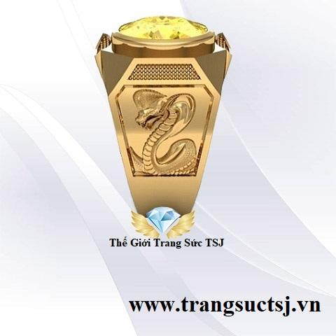 Nhẫn Nam Sapphire Vàng Thiên Nhiên Chính Gốc