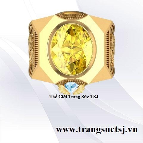 Nhẫn Sapphire Vàng Nam Hợp Phong Thủy