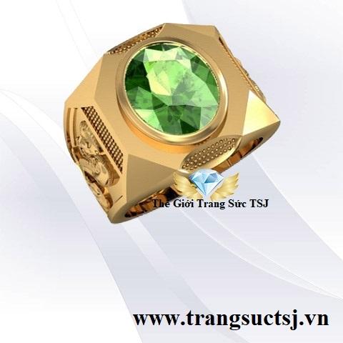 Nhẫn Sapphire Xanh Lá Hình Rắn