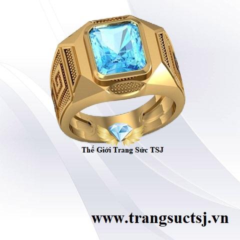Nhẫn Topaz Xanh Đẹp Cho Nam Trang Sức TSJ