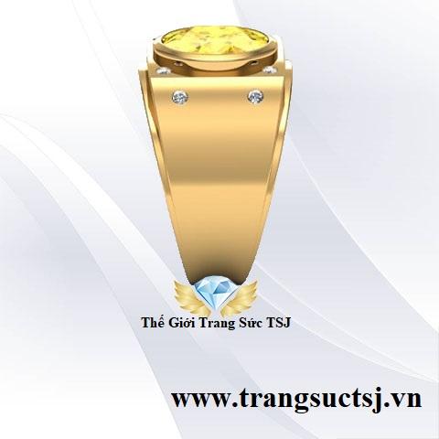 Nhẫn Nam Sapphire Vàng Thiên Nhiên - Kiểm Định SJC