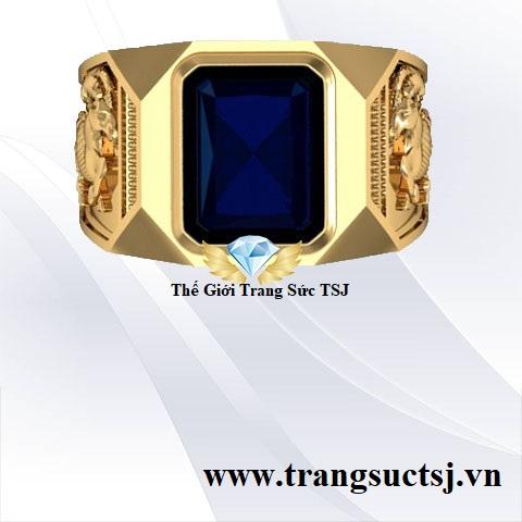 Nhẫn Sapphire Xanh Bích Hợp Mệnh Thủy Tuổi Đinh Mùi