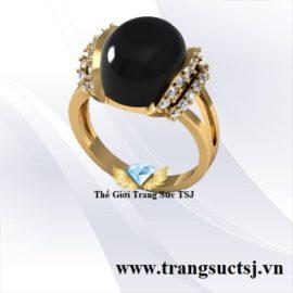 Nhẫn Nữ Đá Sapphire Đen - Trang Sức PNJ