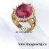 Nhẫn Nữ Ruby Hợp Phong Thủy Mệnh Thổ