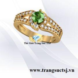 Nhẫn Nữ Đá Sapphire Xanh Lá - Nhẫn Nữ Phong Thủy