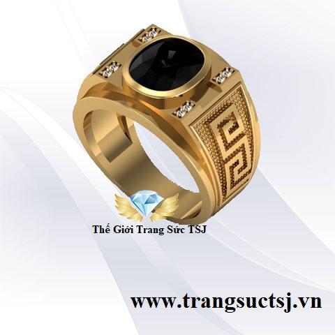 Nhẫn Mặt Đá Sapphire Nam Đẹp - Trang Sức TSJ