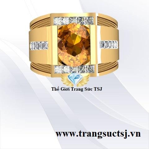 Nhẫn Nam Mệnh Kim, Thổ -Trang Sức Vàng TSJ