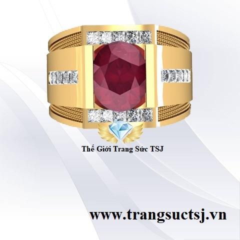 Nhẫn Nam Ruby Đỏ Đẹp Giá Rẻ - Trang Sức TSJ