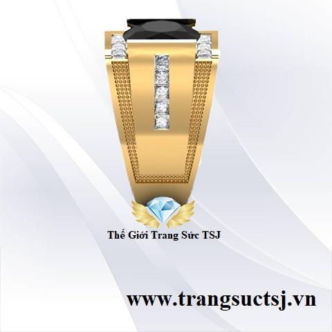 Nhẫn Nam Sapphire Đen Nhẫn Nam TSJ