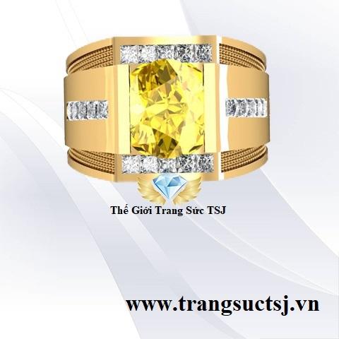 Nhẫn Sapphire Vàng Kiểm Định SJC
