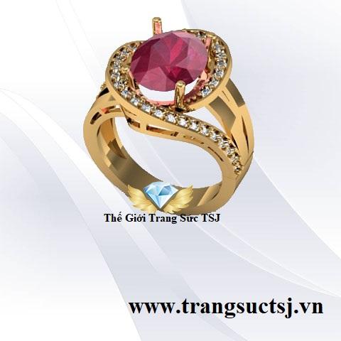 Nhẫn Nữ Đẹp Gắn Đá Ruby