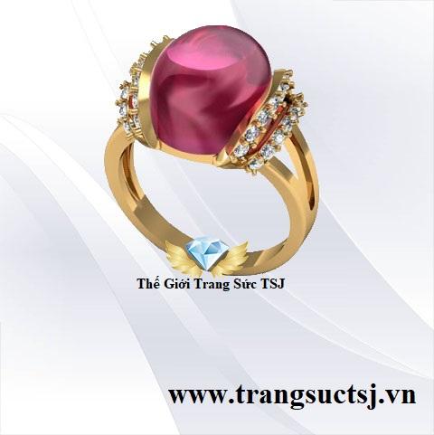 Nhẫn Nữ Ruby Thời Trang Đá Ruby