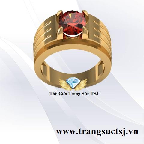 Nhẫn Đẹp Cho Nam Giá Rẻ TPHCM Đá Garnet