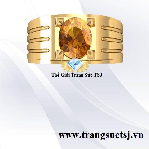 Nhẫn Nam Citrine Vàng - Trang Sức Đẹp