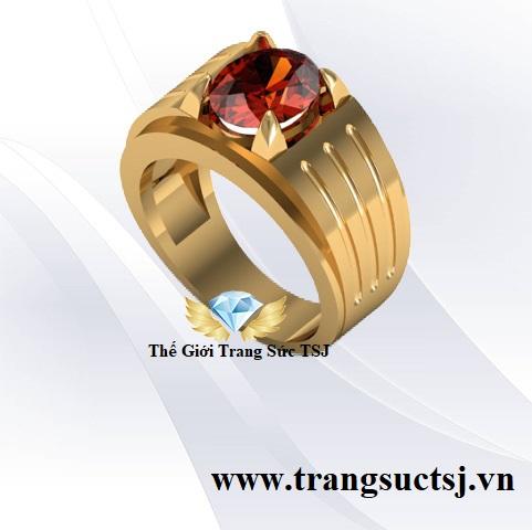 Nhẫn Nam Đá Garnet Đẹp Nhất