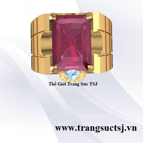 Nhẫn Nam Ruby TSJ - Trang Sức Đẹp Đá Phong Thủy