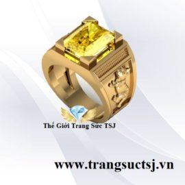 Nhẫn Nam Sapphire Vàng Hình Con MèoNhẫn Nam Sapphire Vàng Hình Con Mèo