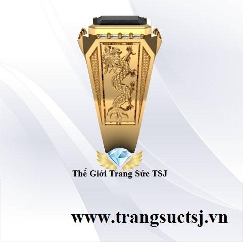 Nhẫn Vàng Tây Nam Đẹp Mặt Đá Sapphire
