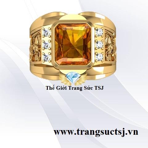 Nhẫn Citrine Vàng Đẹp - Thế Giới Trang SứcTSJ