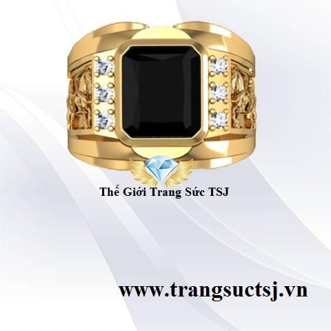 Nhẫn Nam Đá Sapphire Đen Hợp Tuổi