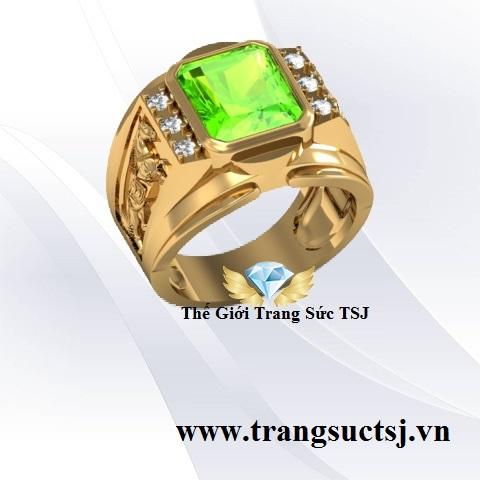 Nhẫn Nam Peridot Đẹp - Trang Sức TSJ