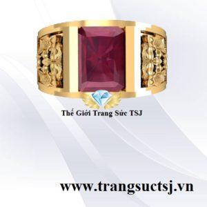 Nhẫn Ruby Đỏ Đẹp Cho Nam Hình Đầu Cọp