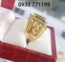 Nhẫn Nam Hình Rồng Đá Peridot