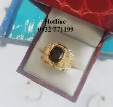 Nhẫn Nam Mặt Đá Sapphire Đen
