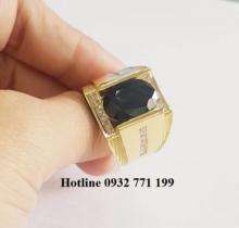 Nhẫn Nam Tấm Lùa Đá Sapphire