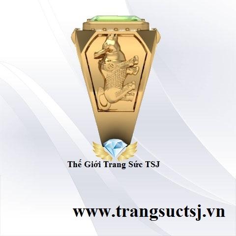 Nhẫn Nam Đẹp 18k TPHCM Mặt Đá Quý