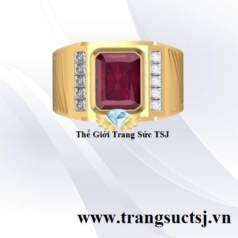 Nhẫn Nam Ruby Đỏ Hợp Phong Thủy